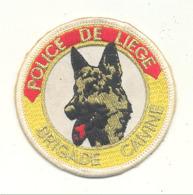 Superbe écusson En Tissu Brodé - Police De Liège - Brigade Canine - Chien, Berger Allemand (b268) - Patches