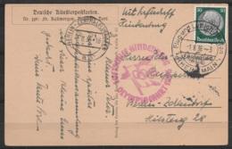 """CP Par Zeppelin Hindenburg Affr. 50pf Càpt """"Flug-und Luftschiffhafen RHEIN-MAIN /-1.8.36/ FRANKFURT (Main)"""" (aéroport Po - Lettres & Documents"""