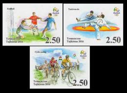 2016Tajikistan 736b-738b2016 Olympic Games In Rio De Janeiro - Sommer 2016: Rio De Janeiro