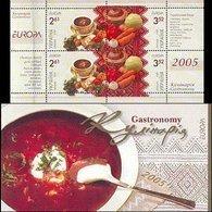 Ukraine, 2005, Mi. 721-22 (MH 6, H-Blatt 8), Y&T C642, Sc. 597, SG 605-06, Europa, Gastronomy, Booklet - Ukraine