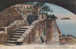 Cp , 50 , LE MONT-SAINT-MICHEL , Tour Claudine Et Tombelaine - Le Mont Saint Michel