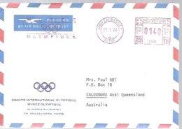 POSTMARKET  SUIZA  1989  CIO - Juegos Olímpicos