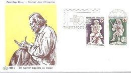 FDC FRANCIA  1967  DIEPPE - Croix-Rouge