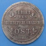 ALLEMAGNE,  Monnaie D'occupation Du Commandement Supérieur Du Front Est,  3 Kopecks 1916 A, TTB+ - 50 Pfennig