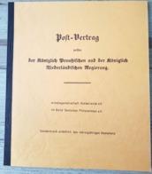 Post Vertrag Zwischen Der Königlich Preußischen Und Der Königlich Niederländischen Regierung 1851 - Tariffe Postali