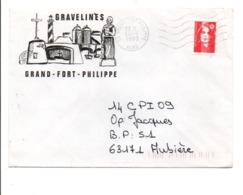 LETTRE DE GRAND-FORT-PHILIPPE NORD 1993 - Marcophilie (Lettres)