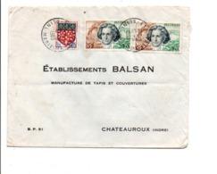AFFRANCHISSEMENT COMPOSE SUR LETTRE DE ETRETAT 1963 - Marcophilie (Lettres)