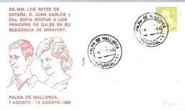 MATASELLOS  1986  PALMA DE MALLORCA  PRINCIPES DE GALES A MIRAVENT - 1931-Hoy: 2ª República - ... Juan Carlos I