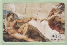 New Zealand - 1996 Art Collection - $50 Creation Of Adam - NZ-D-76 - Mint - Neuseeland