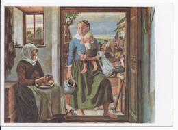 """Dt- Reich (002432) Propagandakarte München Haus Der Deutschen Kunst, Oskar Martin Amorbach """"Heimkehr"""", Ungebraucht - Briefe U. Dokumente"""