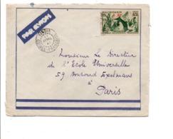MAURITANIE LETTRE AVION DE KINDIA POUR LA FRANCE 1940 - Mauritanie (1906-1944)