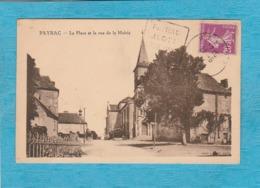 Payrac ( Lot ). - La Place Et La Rue De La Mairie. - Frankrijk
