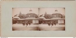 PHOTO STEREO 1905 CONTREXEVILLE SOURCE EN PAVILLON - Photos Stéréoscopiques