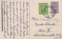 Inflation Karte - Bahnstempel Zug 322 Hüttenberg-Assling (Jesenice) -  60 + 240 Kronen - 1923 Rs: Faaker-See-Insel SW - 1918-1945 1ste Republiek