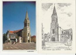GARCHES. 2 CP Eglise Saint Louis Dont Une D'après Dessin Yves Ducourtioux - Garches