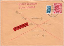 127 Posthorn EF Eil-Brief Mit Notopfer TÜBINGEN 29.10.53 Nach KONSTANZ 30.10.53 - BRD