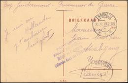 Kriegsgefangenenpost Prisonniers De Guerre ENSCHEDE 30.11.18 Auf AK Markt - Briefmarken