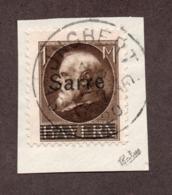 Sarre N°27 Oblitéré Sur Fragment TB Et Signé Cote 52 Euros !!!RARE - Used Stamps