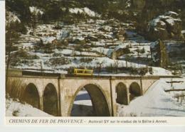 C. P . - PHOTO - CHEMINS DE FER DE PROVENCE - AUTORAIL SY SUR LE VIADUC DE LA BEITE A ANNOT - JACQUES CHAUSSARD - A 72 - Frankreich