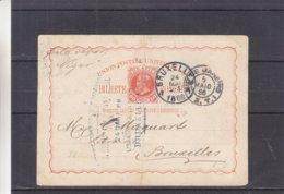 Brésil - Carte Postale De 1866 - Entier Postal - Oblit Rio De Janeiro - Exp Vers Bruxelles - Lettres & Documents
