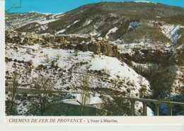 C. P . - PHOTO - CHEMINS DE FER DE PROVENCE - L'HIVER A MEAILLES - JACQUES CHAUSSARD - A 85 - France