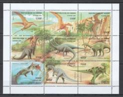 B087 1998 DU BENIN FAUNA PREHISTORIC ANIMALS DINOSAURS !!! MICHEL 15 EURO !!! 1KB MNH - Briefmarken