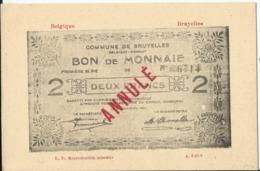Argent De Nécessité - Noodgeld - Commune De .... Gemeente ..... BRUYELLES (Antoing) - Monete (rappresentazioni)