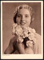 B0573 - Schneider Foto - Porträt - Hübsche Junge Frau - Pretty Young Women - Horn Karte Sonderklasse - Künstlerkarten
