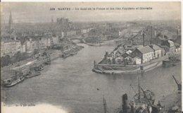 Carte Postale Ancienne De Nantes Les Quais De La Fosse Et Les Iles Feydeau Et Gloriette - Nantes