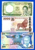 Tanzanie  6  Billets - Tanzania