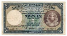 Egypt, 1 Pound 1941. P-22c. F/VF. - Egypte