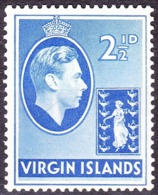 BRITISH VIRGIN ISLANDS 1938 KGVI 2.5d Ultramarine SG114 MH - Britse Maagdeneilanden