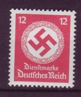 Dt. Reich Dienst D 172a Ohne WZ Einzelmarke 12 Pf Postfrisch - Officials