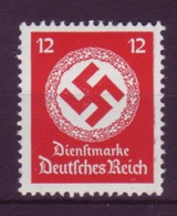 Dt. Reich Dienst D 172b Ohne WZ Einzelmarke 12 Pf Postfrisch - Officials