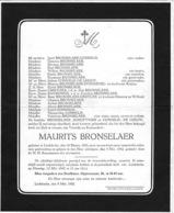 Overlijdensbericht - Maurits Bronselaer - Liedekerke - Décès
