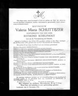 Overlijdensbericht - Valeria Schuttijser - Schelfhout - Liedekerke - Décès