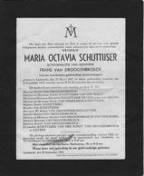 Overlijdensbericht - Maria Schuttijser - Van Droogenbroeck - Liedekerke - Décès