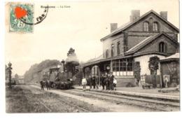 03235-LE-62-Bapaume-La Gare-----------animée-train - Bapaume
