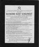 Overlijdensbericht - Raymond Schelfhout - Schuttijser - Liedekerke - Décès