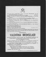 Overlijdensbericht - Valentina Bronselaer  - Liedekerke - Décès