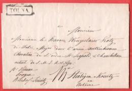 AUTRICHE HONGRIE  Précurseur (avec Contenu)  TOLNA 29 X 1836 Vers Vienne, Prague, Bischof, Steirigen Kreutz Bohême - Austria