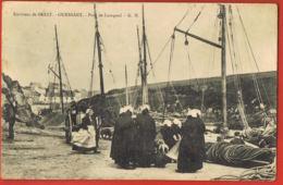 OUESSANT- Finistère - Port De Lampaul-cpa- Femmes De Pêcheurs-  Scans Recto Verso-Paypal Sans Frais - Ouessant