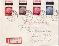 ALLEMAGNE DEUTSCHE POST OSTEN 1640 LETTRE RECOMMANDEE DE KRAKAU AVEC CACHET ARRIVEE JENA - Occupazione 1938 – 45