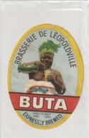 Congo Belge / Etiquette De Bière BUTA - Brasserie De Léopoldville (Petits Défauts) - Beer