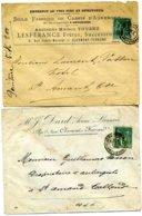 75 Sage Seul Tarif 5c Clermont Fd Puy De Dôme 1891 Type 18 Touzet Lespérance Cassis Vins Spiritueux + Lettre Non Comptée - Marcophilie (Lettres)