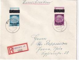 ALLEMAGNE DEUTSCHE POST OSTEN 1940 LETTRE RECOMMANDEE DE KRAKAU AVEC CACHET ARRIVEE JENA - Occupation 1938-45