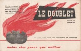 """Buvard---charbon """"le Doublet"""" - Carte Assorbenti"""
