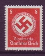 Dt. Reich Dienst D 170 Ohne WZ Einzelmarke 8 Pf Postfrisch - Officials