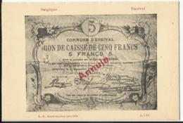 Argent De Nécessité - Noodgeld - Commune De .... Gemeente ....ENSIVAL (Verviers) - Monete (rappresentazioni)