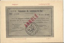 Argent De Nécessité - Noodgeld - Commune De .... Gemeente ....LEMBECQ-lez-HAL (Lembeek) - Monete (rappresentazioni)